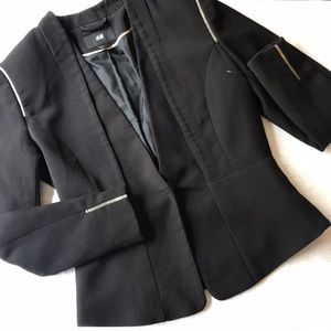 Black Blazer with silver lining